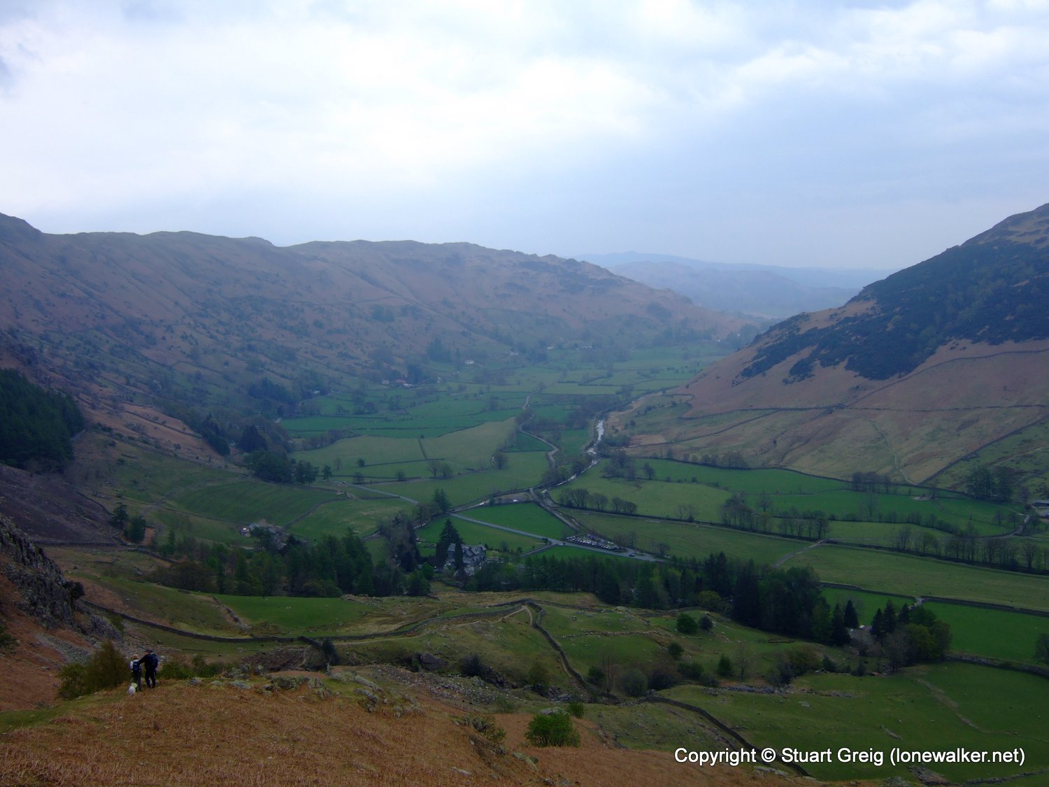 Langdale Pikes from New Dungeon Ghyll Hotel
