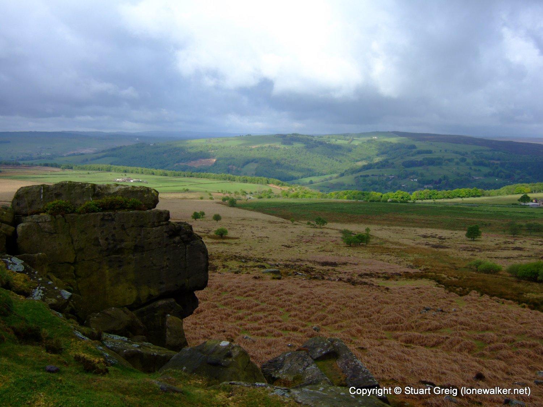 Stone outcrop on White Edge