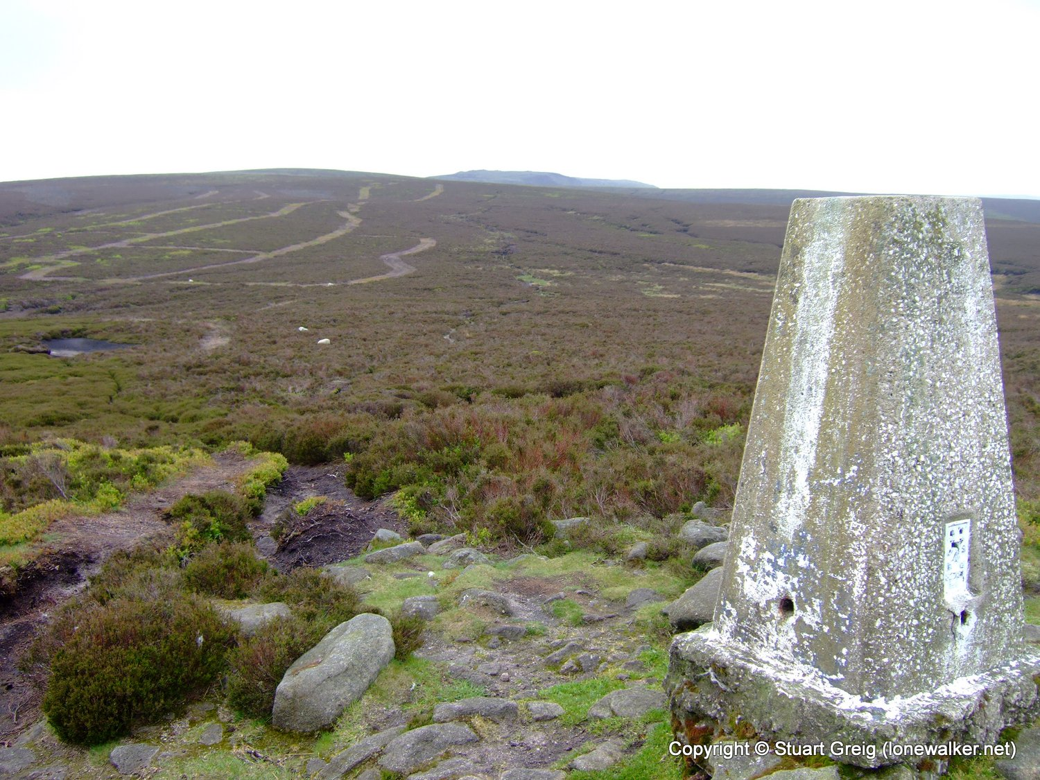 The trig point on Harry Hut