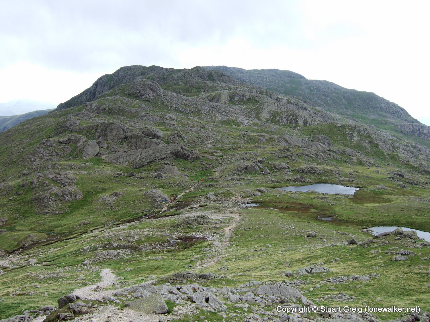 Esk Pike and Bow Fell