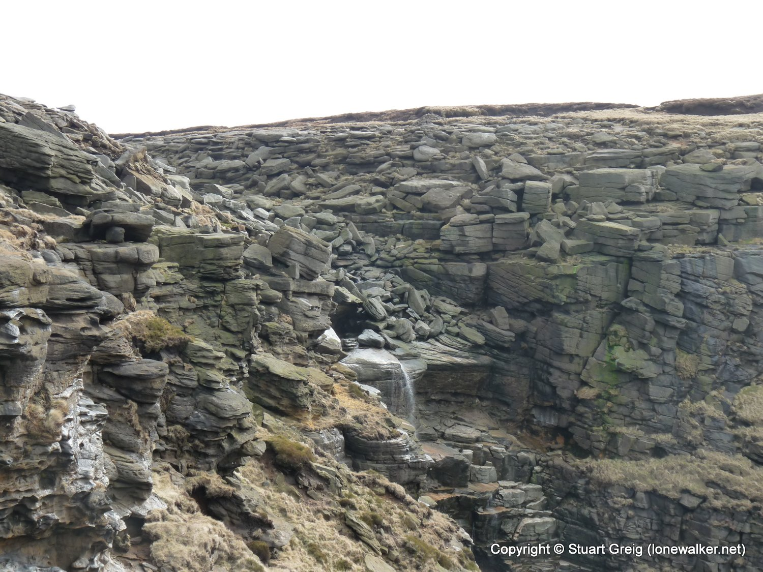 Kinder Downfall from Hayfield