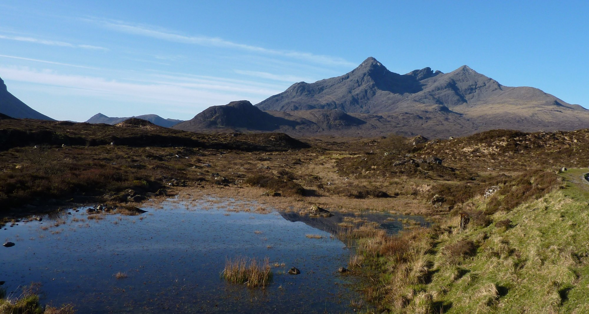 Northern edge of the Cuillin horseshoe - Sgurr Nan Gillean, seen from the start of the path