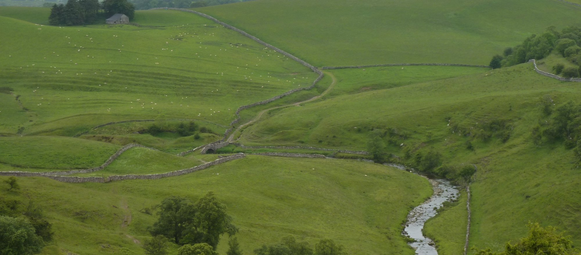 Looking down onto Smardale Bridge