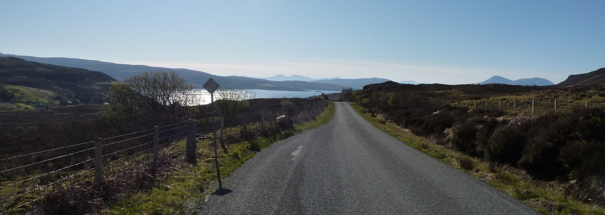 Although it's road walking, this road is lovely - very quiet and with splendid views all round