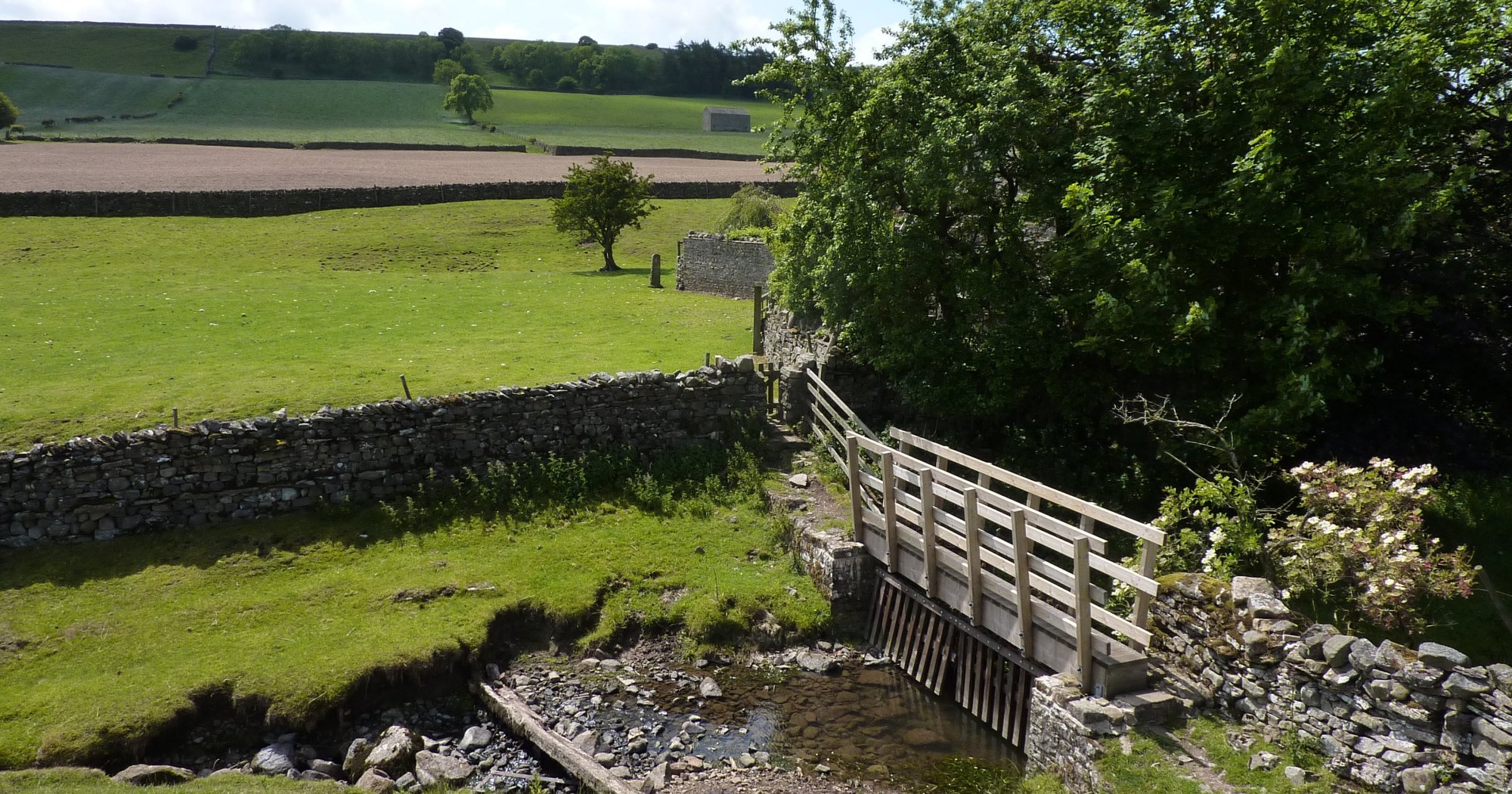 The footbridge at Ellers