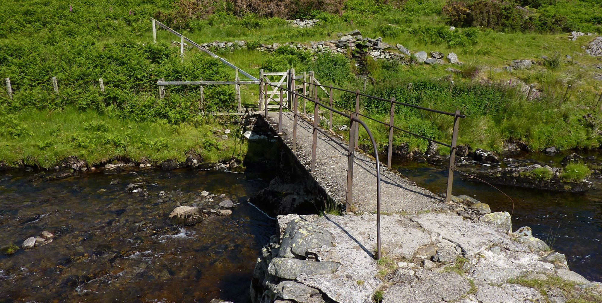 Across the bridge to reach the road into Swindale