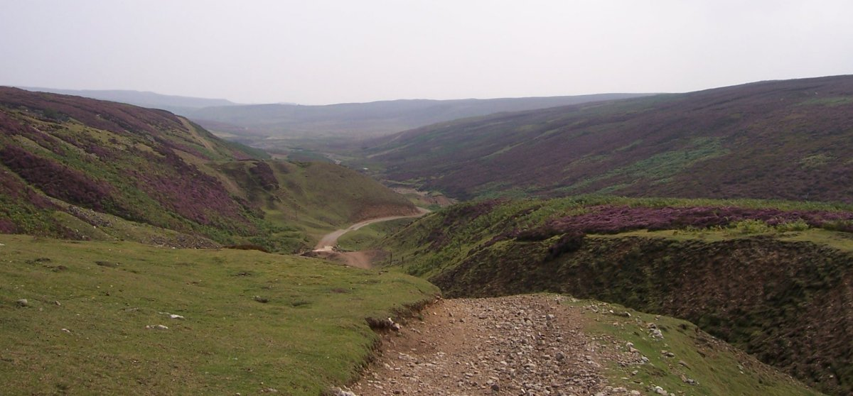 The view down Apedale Beck