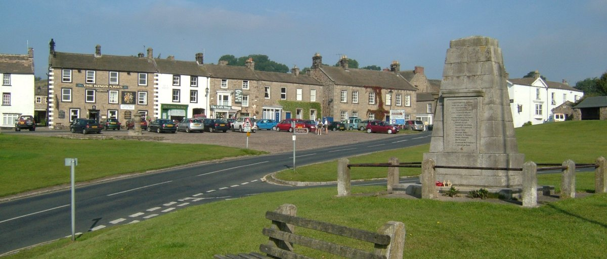 The village green in Reeth