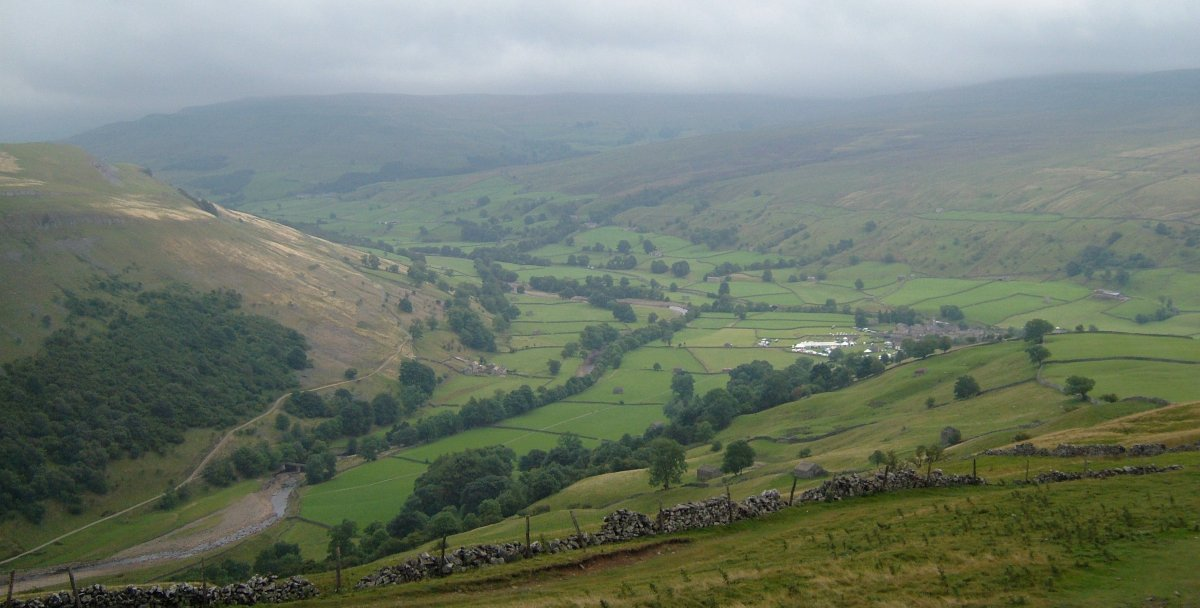 Swaledale and Muker from Kisdon