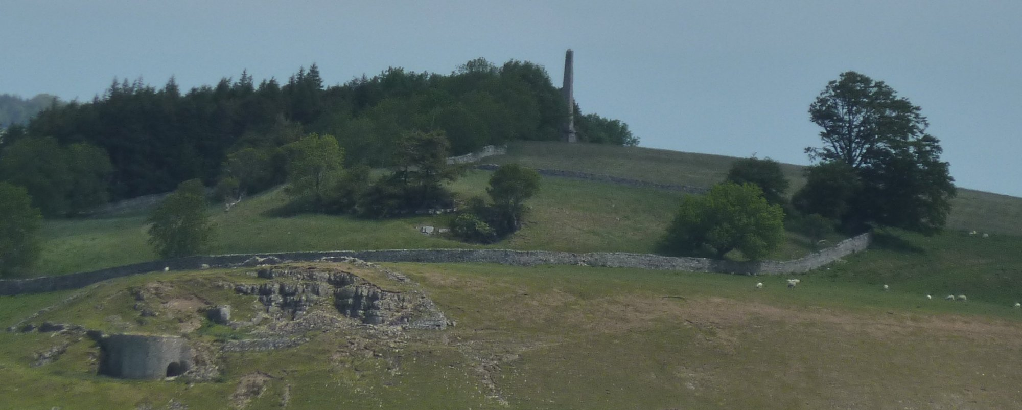 Looking across to Hutton's Monument from my lunch stop