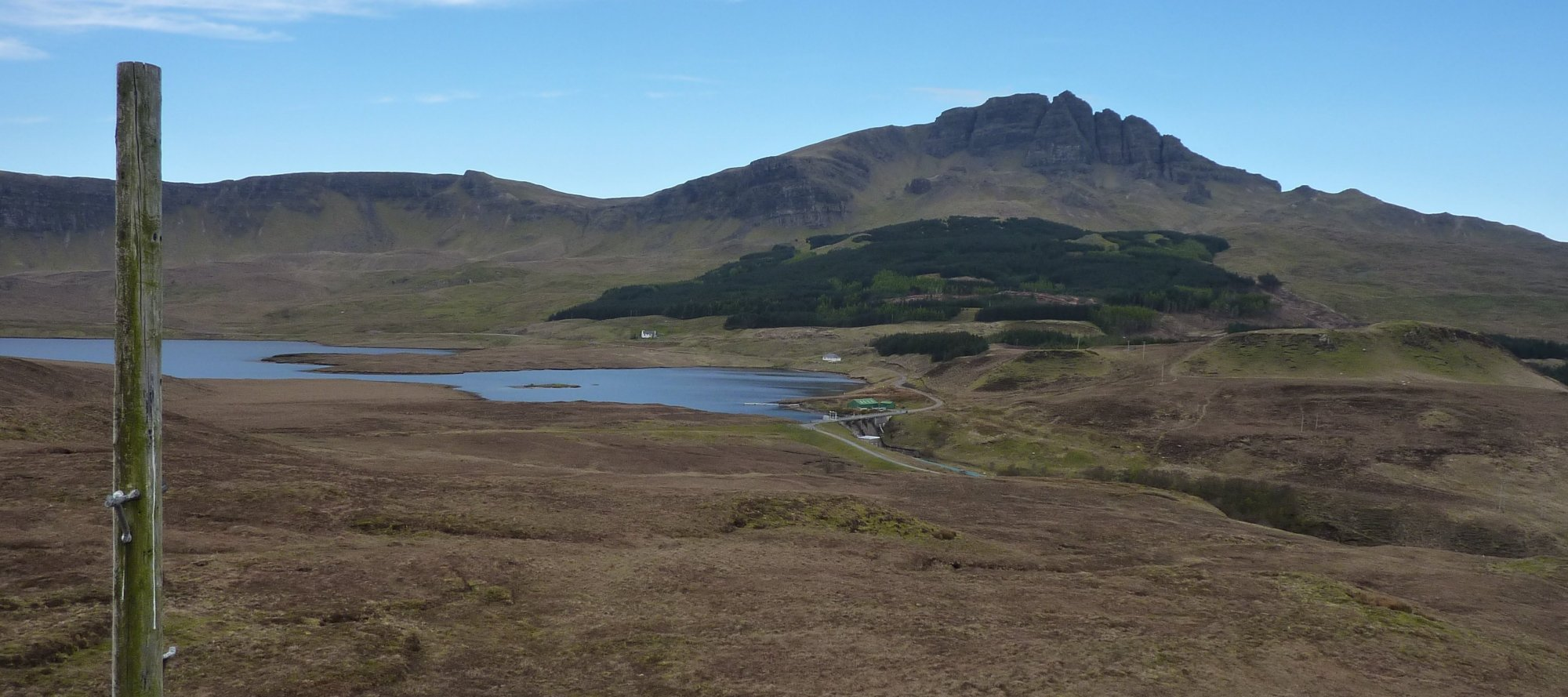 View of the Storr and Loch Leathan from the unnamed hillock (186m)