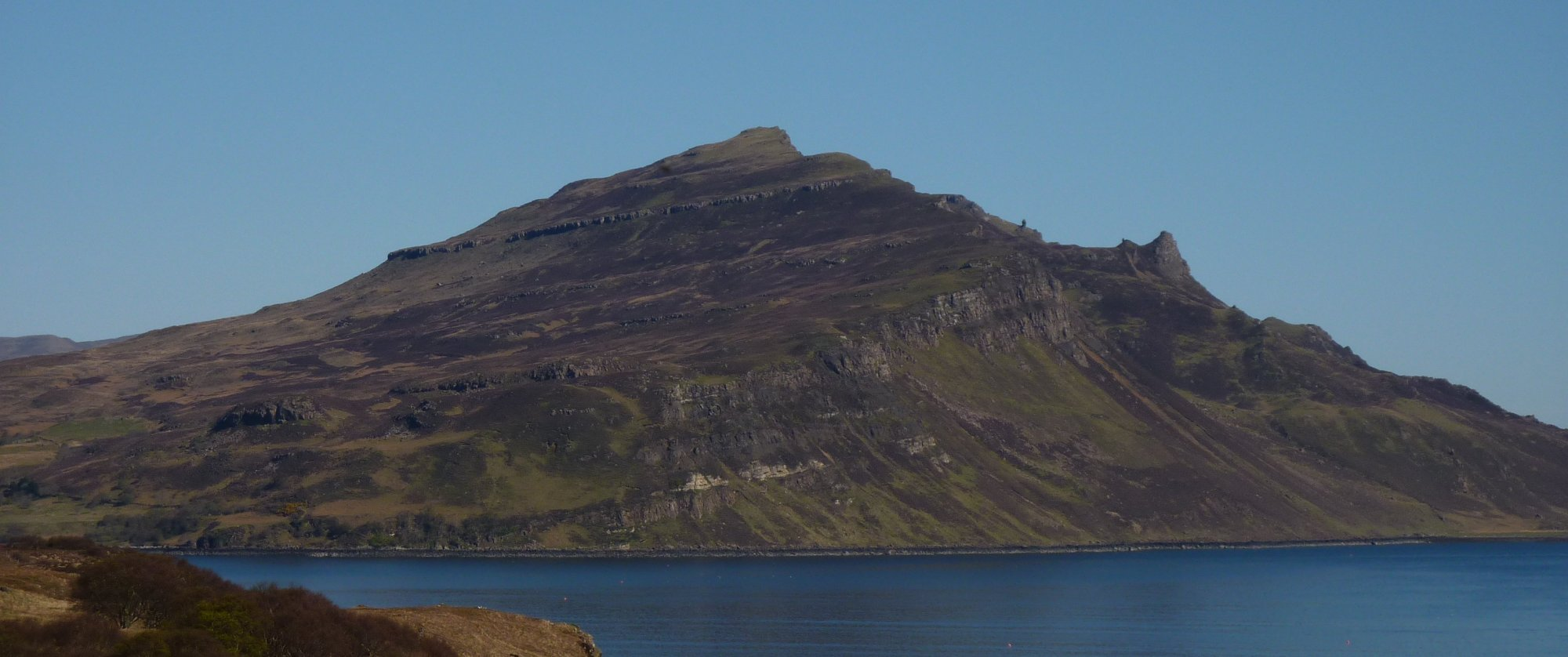Looking across Tianavaig Bay to Ben Tianavaig from the Braes road