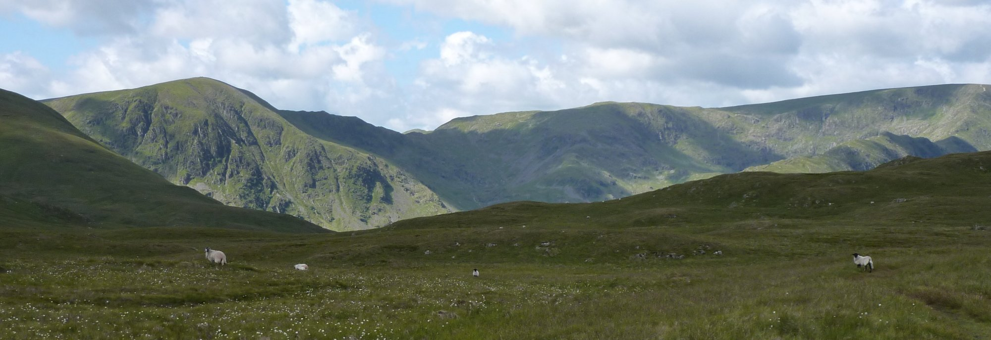 Mardale Ill Bell and High Street above Mardale Common from my path along the Old Corpse Road