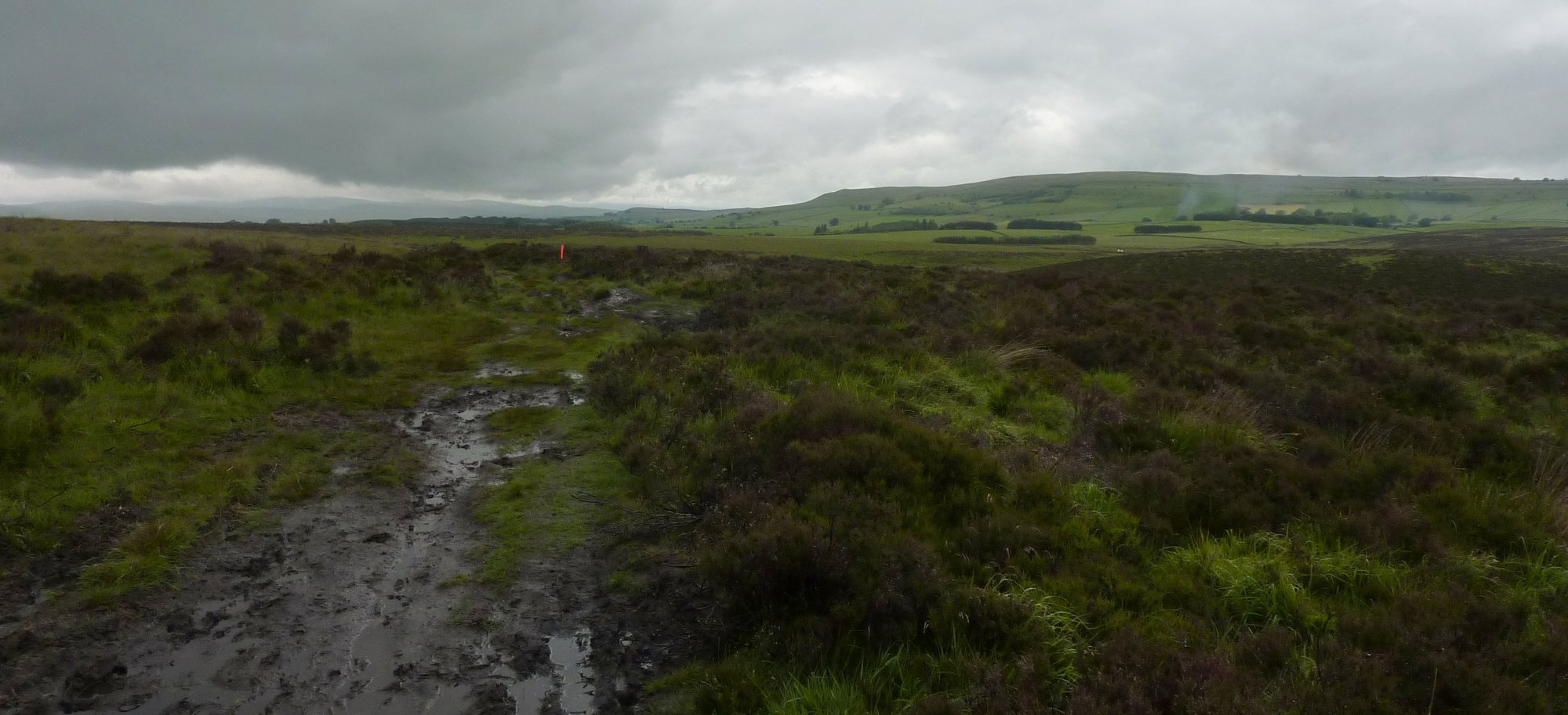 The path around Sunbiggin, somewhat wet and muddy