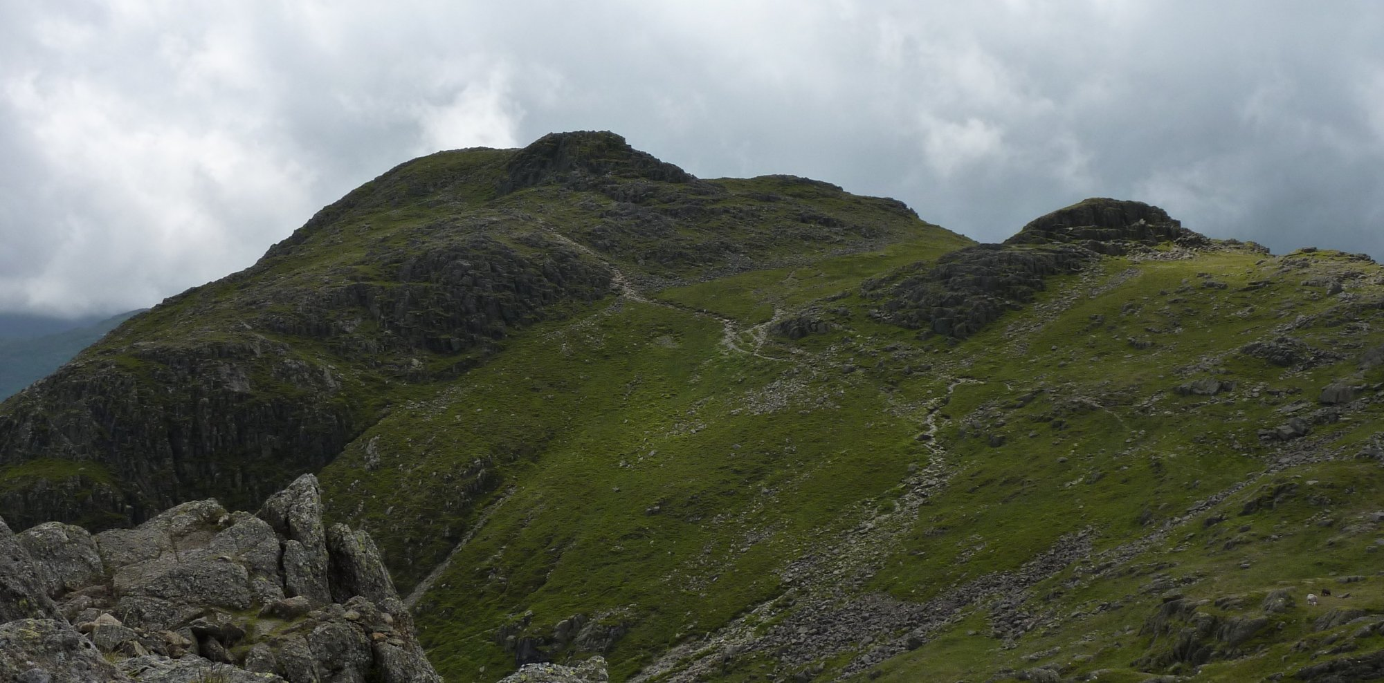 Looking across to Harrison Stickle from my lunch spot