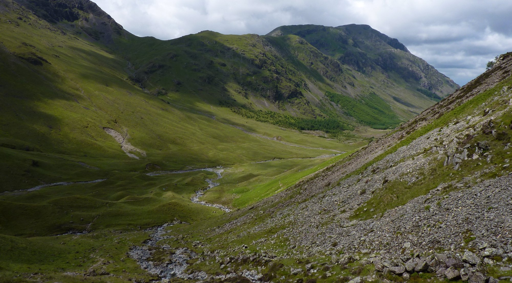 At the foot of Loft Beck, looking along Ennerdale