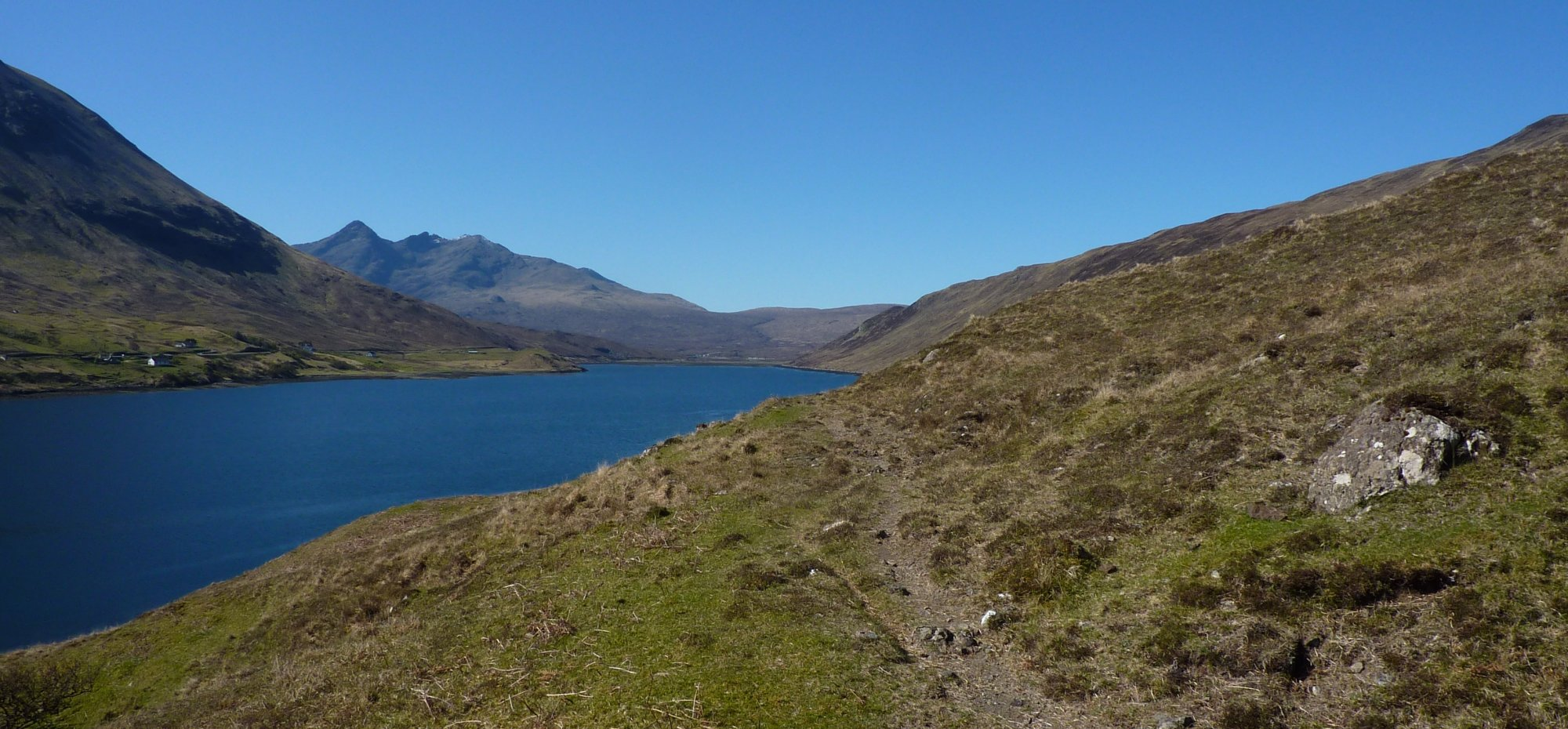Glamaig to the left and the Cuillins ahead, some of my favourite walking of the journey so far