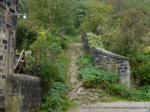 The steep climb out of Hebden Bridge!