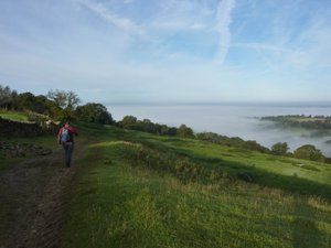 Cloud inversion on the Cotswold Way
