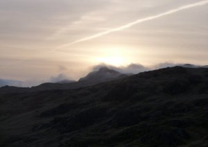 Sunrise seen from Honister Crag
