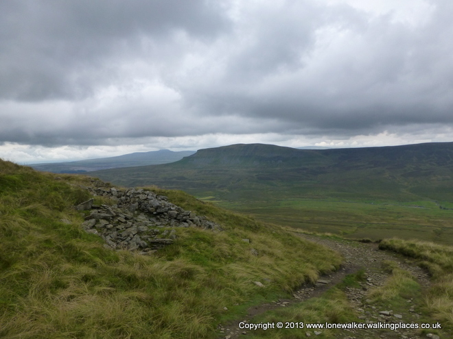 Looking across to Pen-y-Ghent from Fountains Fell