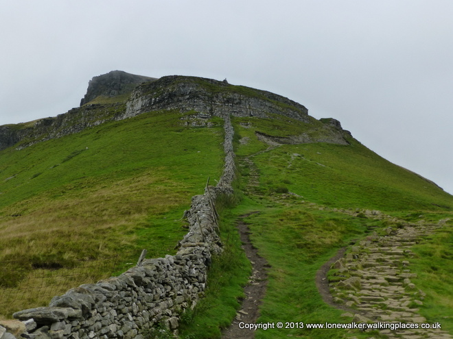 The ascent of Pen-y-Ghent looks worse than it is