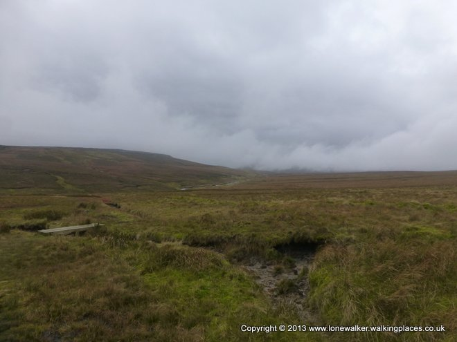 Dufton Fell - it's a big expanse of fell - with clouds whipping across ahead