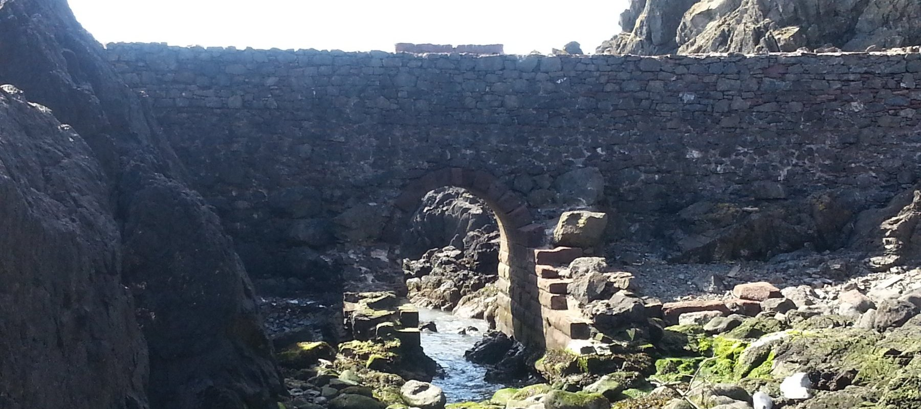 Stone arch in Portpatrick harbour