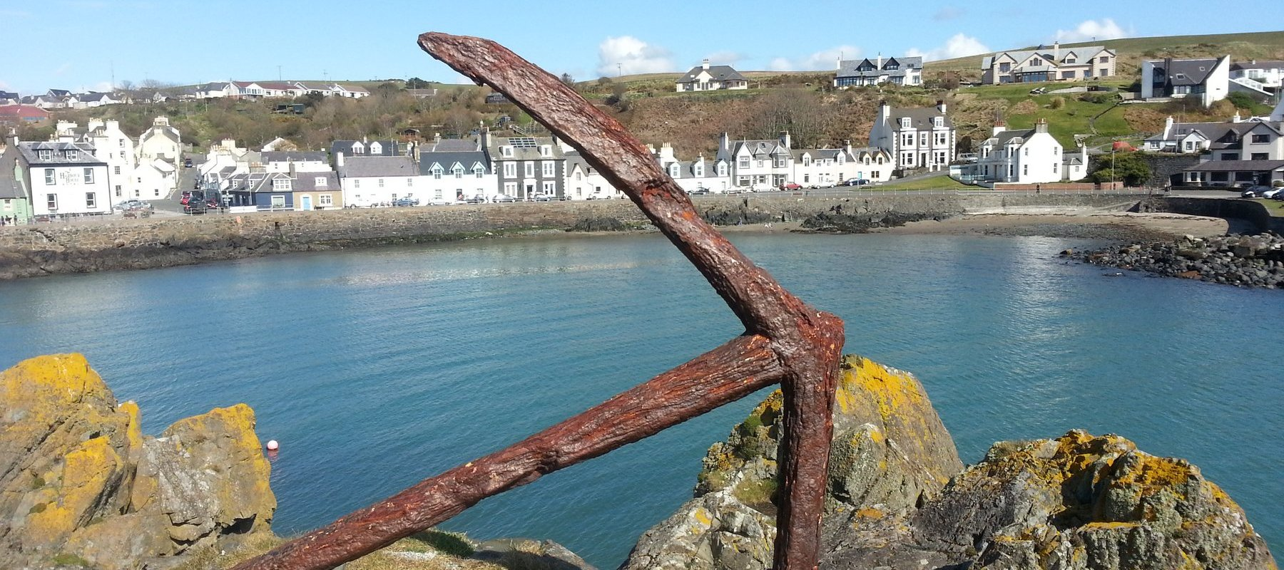 Ancient anchor in Portpatrick harbour