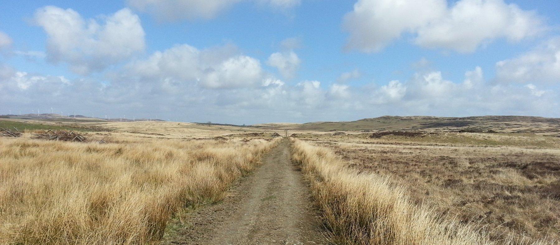 The track on Kilhern Moss
