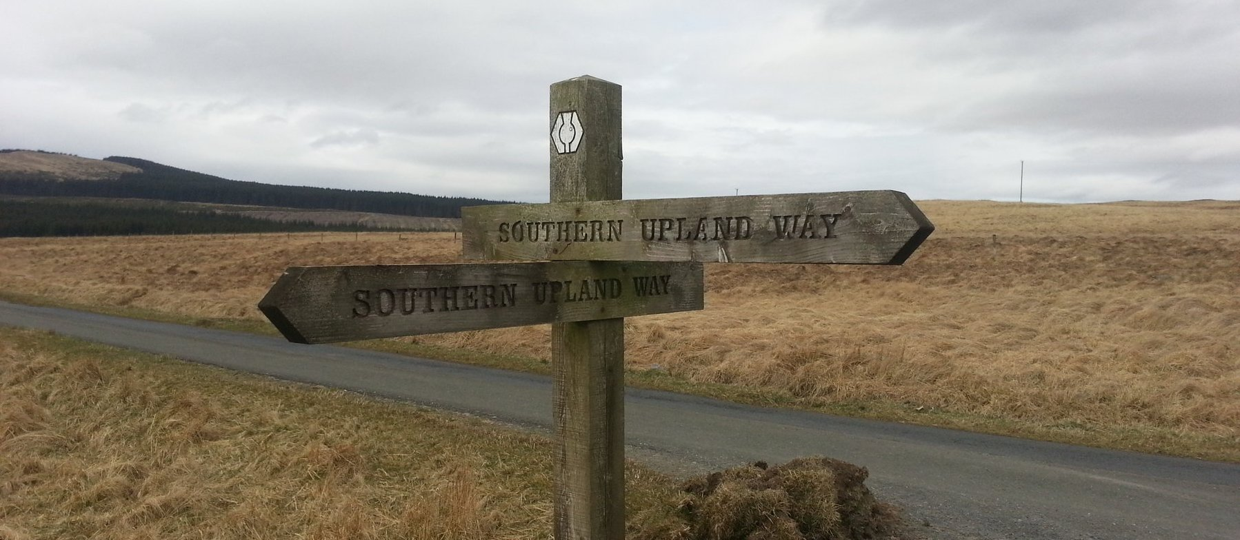 Southern Upland Way sign