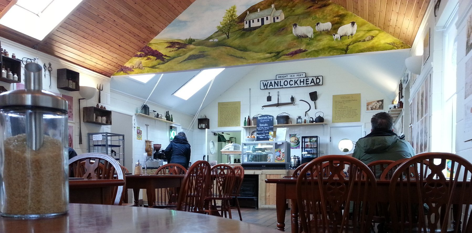 Wanlockhead Visitor Centre is an oasis of calm and lots to look at on the walls