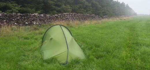 A wet camp outside Gargrave