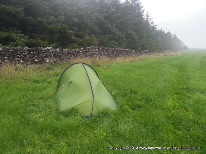A wet camp outside Gargrave