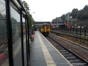 Marsden station in the rain