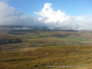 Sunshine in the Snaizeholme valley and cloud shadows