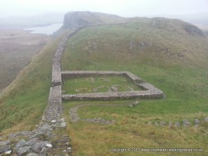 Milecastle 39 - one of the Roman strongpoints on Hadrian's Wall