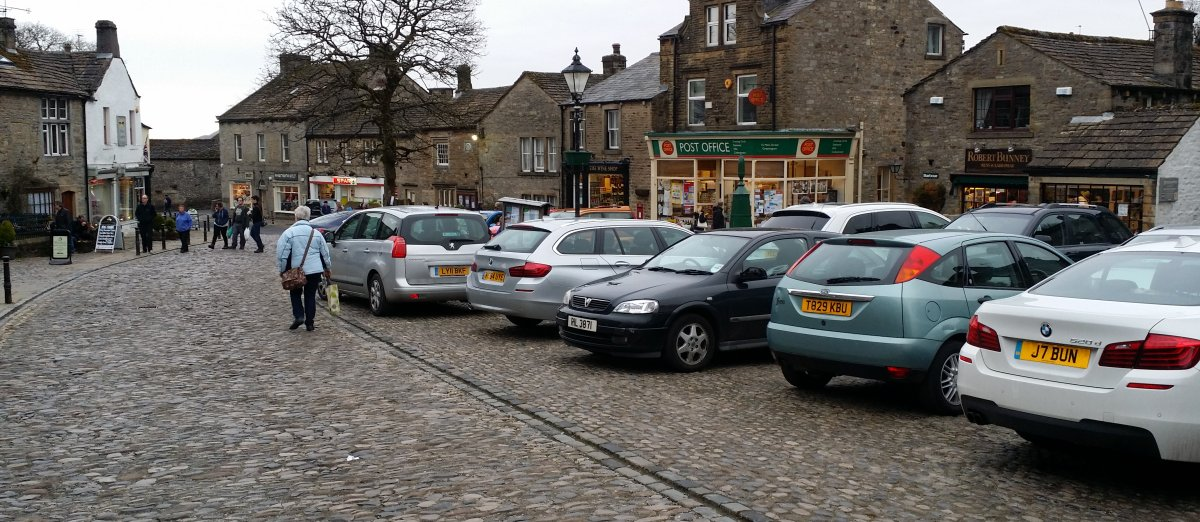 A very busy Grassington village