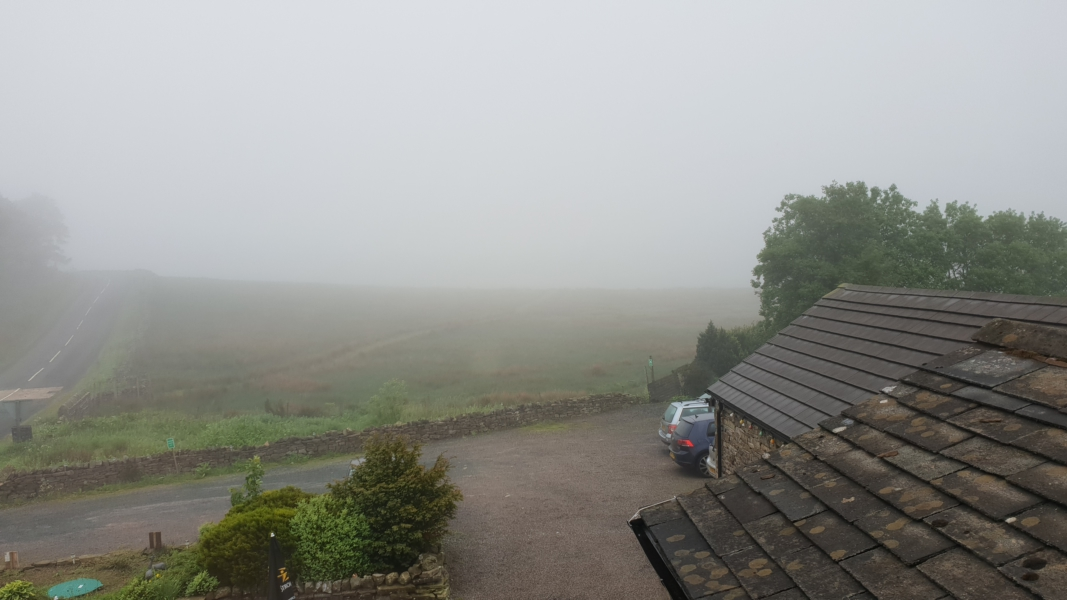 Murky view from my bedroom window