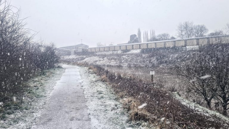 Snow storm on my local walk