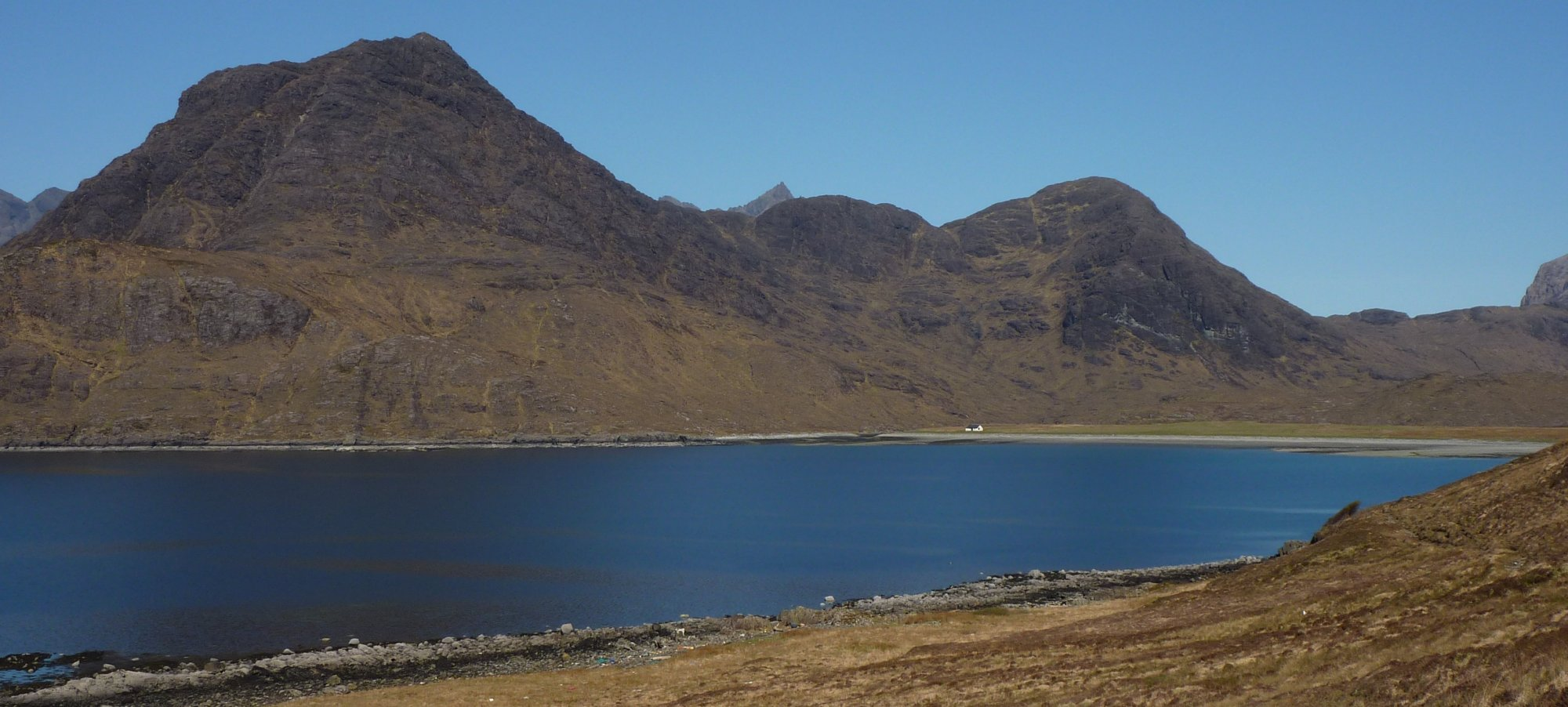 Looking back to Camasunary, Sgurr na Stri on the left of picture