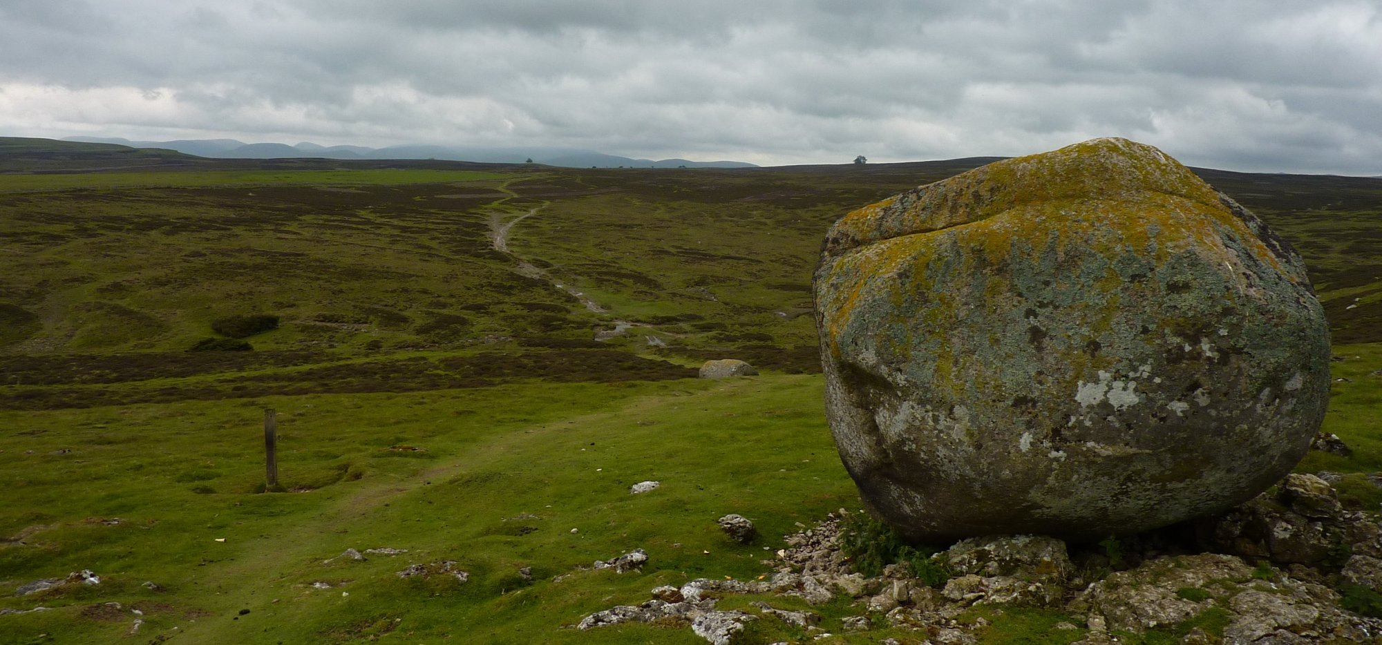 Granite erratics on Crosby Ravensworth