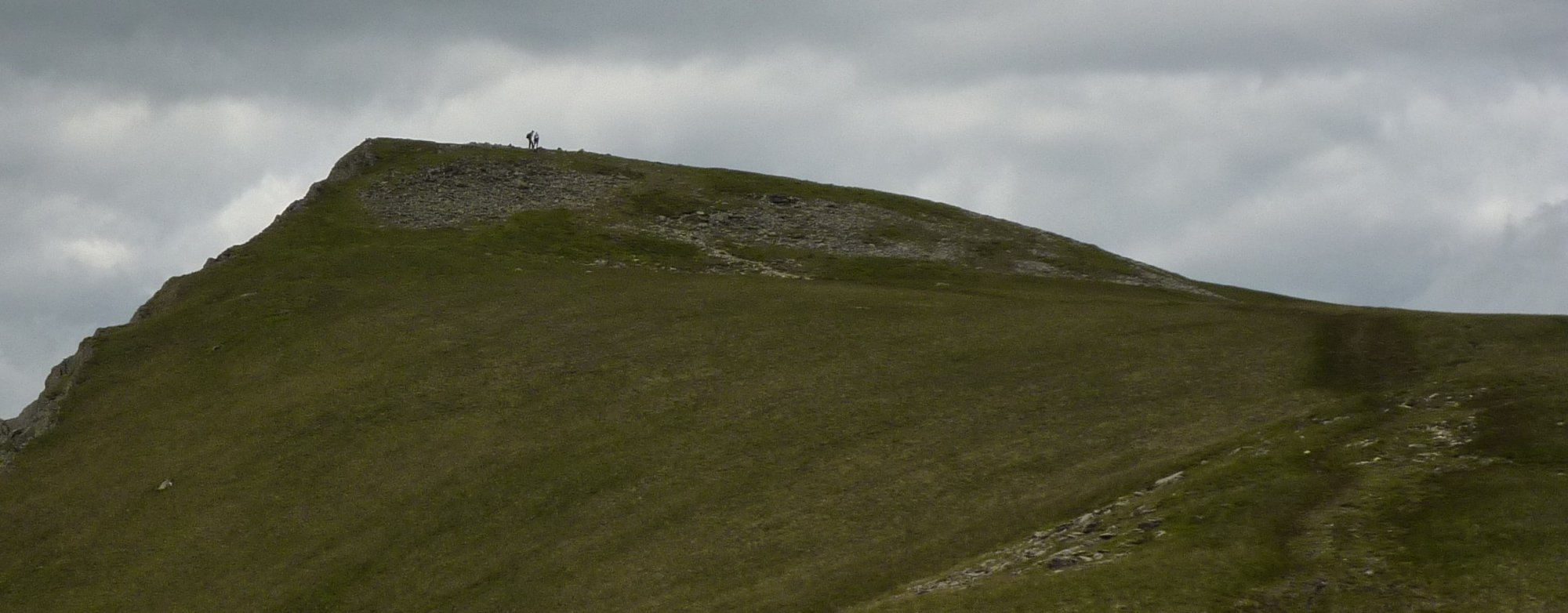 Kidsty Pike with two walkers on the summit