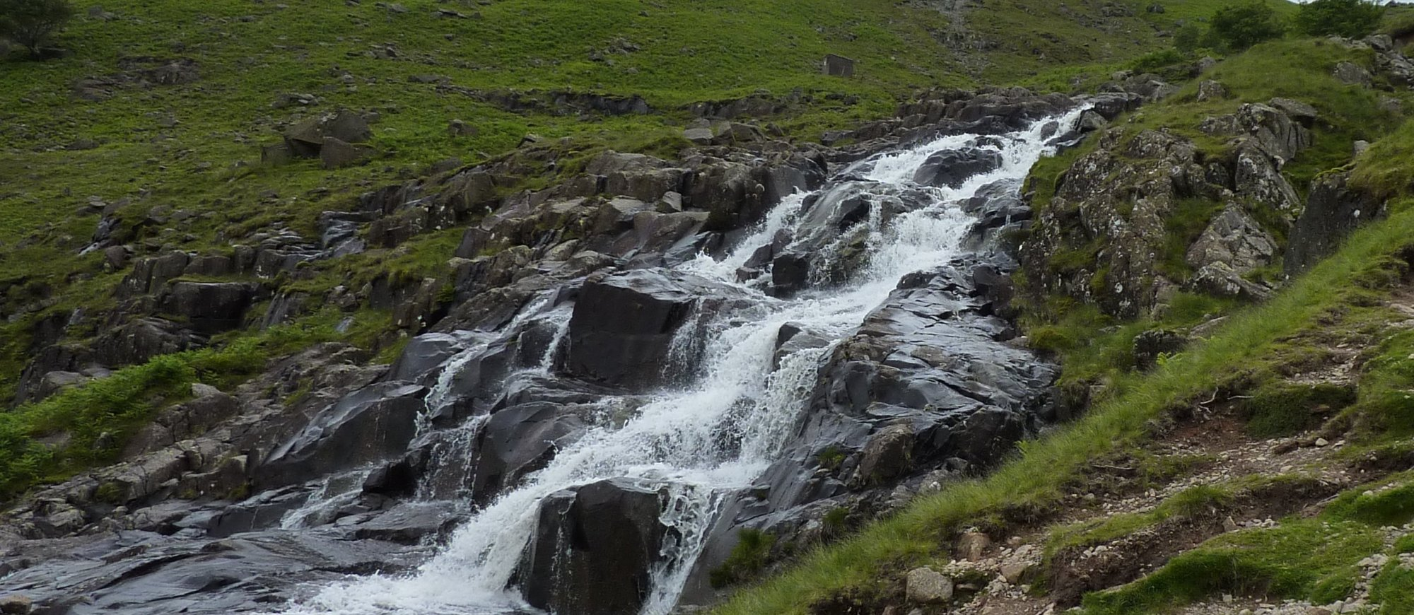One of the many lovely waterfalls falling into Langstrath valley