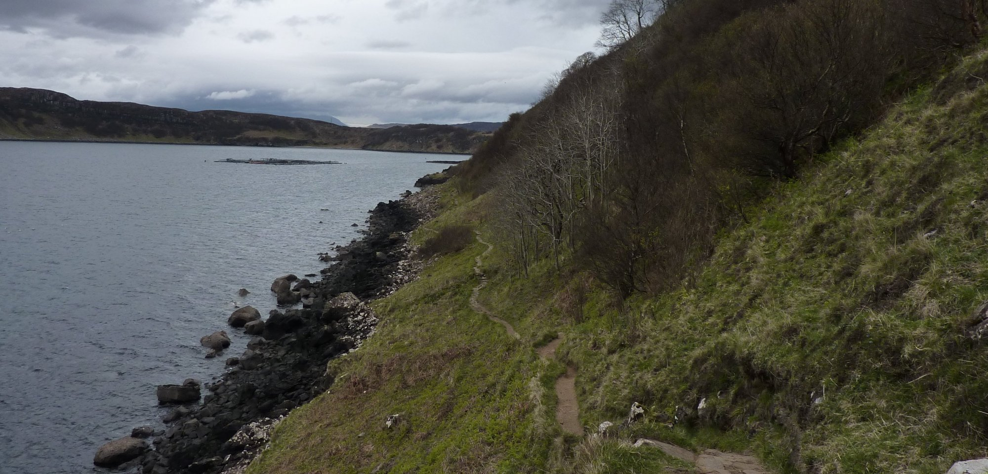 The path into Portree is well-laid and easy to follow