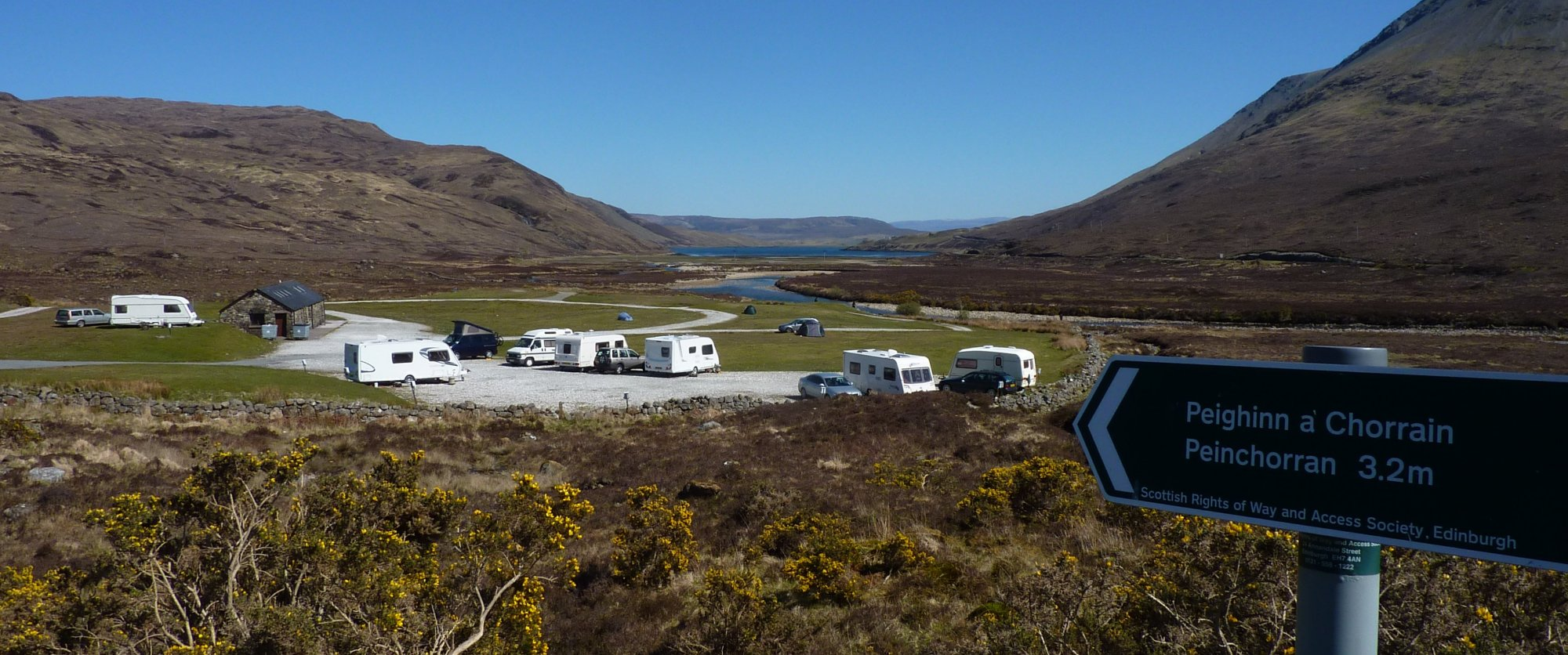 The campsite at Sligachan Hotel, a tad exposed for my liking