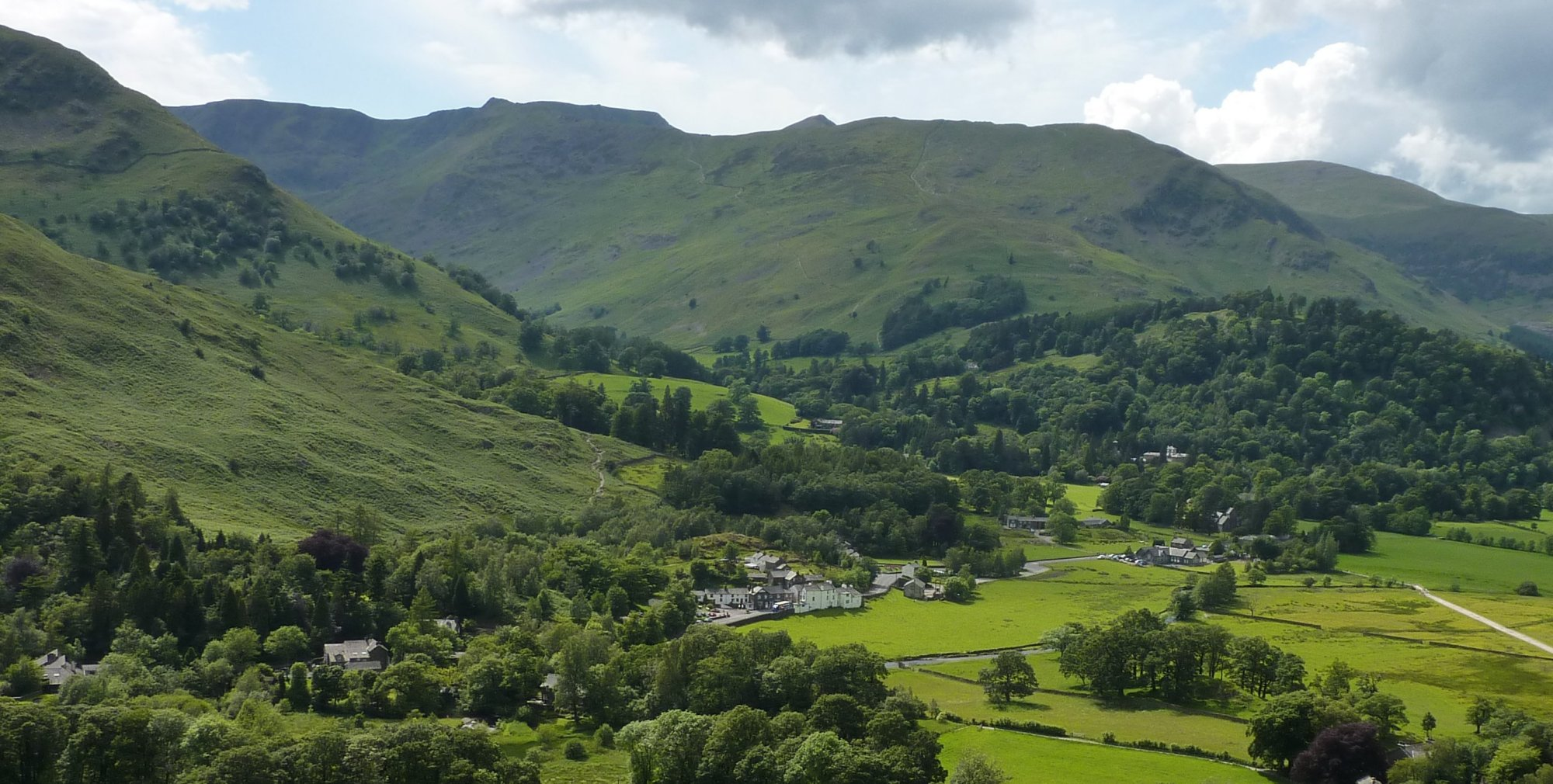 Patterdale from the descent from Boredale Hause