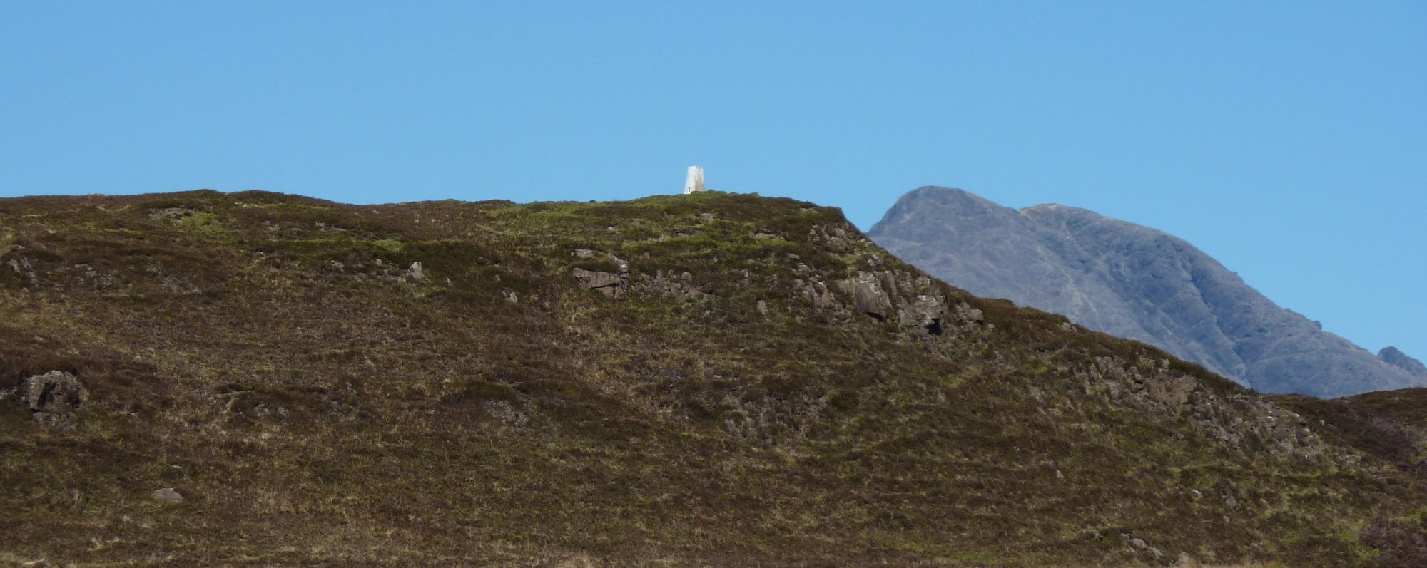 Looking back to Elgol trig point