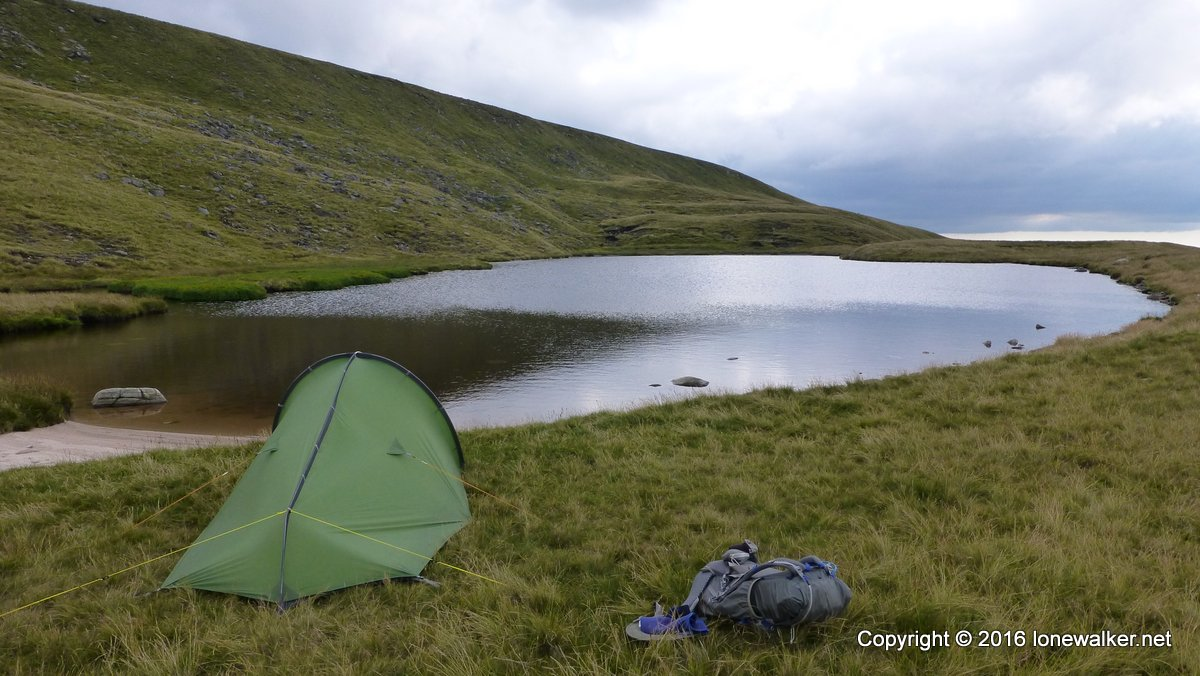 Pitched beside Sand Tarn - a truly lovely spot in the Yorkshire Dales