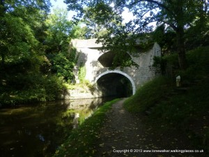 Famous 'Double Bridge' on the Leeds Liverpool canal